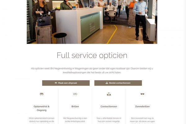Webdesign opticien Wageningen