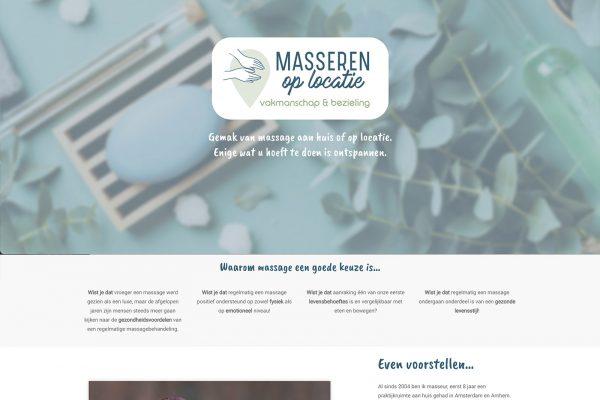 Webdesign massage aan huis