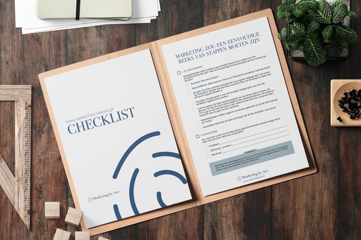 Maak marketing makkelijk - de Checklist