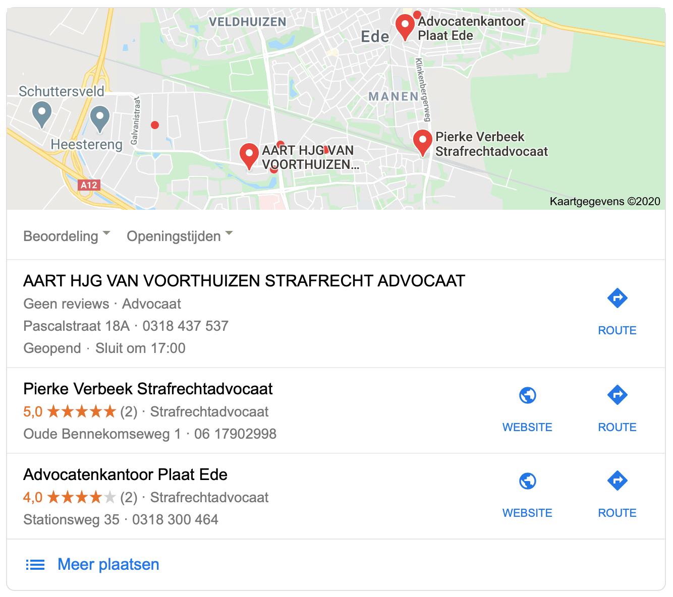 Binnen 4 weken op plaats 2 in Google Maps