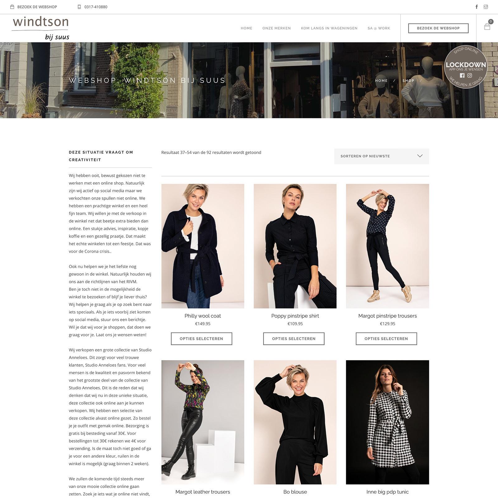 Webshop retail kledingwinkel dameskleding Wageningen